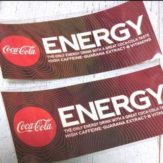 コカコーラ(コカ・コーラ)のコカ・コーラ エナジー ステッカー(ノベルティグッズ)