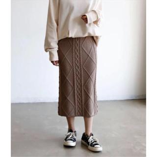Auntie Rosa - ケーブルニットタイトスカート