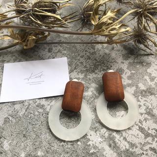 LEPSIM - SALE!【WER-1】Wood circle earring