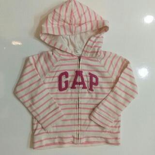 ベビーギャップ(babyGAP)のbabyGAP ギャップ パーカー ラメ ボーダー 90cm(ジャケット/上着)