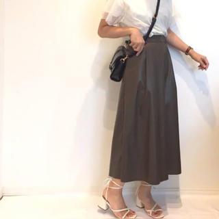GU - GU フェイクレザースカート ブラウン