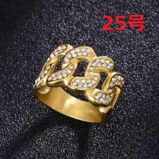 ブリンブリン マイアミキューバン リング ゴールド 指輪 25号(リング(指輪))