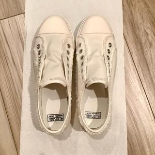coen - 【即日〜1日で発送】coen キャンバススリッポン ホワイト Mサイズ