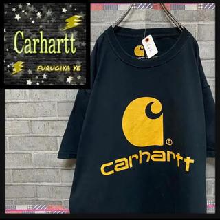 カーハート(carhartt)のカーハート Tシャツ 半袖 デカロゴ 黒 ビックシルエット(Tシャツ(半袖/袖なし))