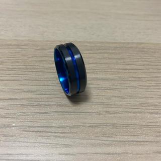 指輪 リング ブラック ブルー(リング(指輪))