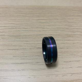 指輪 リング ブラック ブルー パープル(リング(指輪))