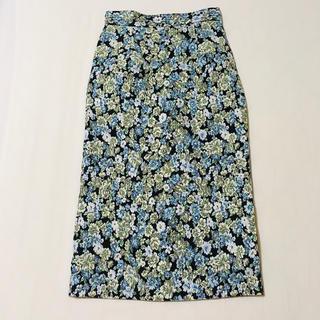 ナチュラルビューティーベーシック(NATURAL BEAUTY BASIC)の【natural beauty basic】花柄膝丈スカート(ひざ丈スカート)