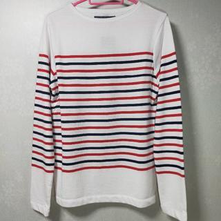 ダブルジェーケー(wjk)のロングTシャツ Sサイズ wjk メンズ ボーダー(Tシャツ/カットソー(七分/長袖))