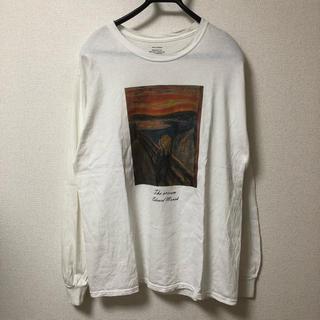 ライトオン(Right-on)のRight-on ライトオン ムンクの叫び アートプリント ロンT(Tシャツ/カットソー(七分/長袖))
