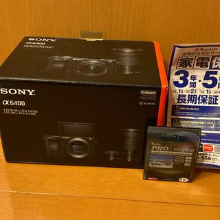SONY - a6400 ブラック ダブルズームレンズキット