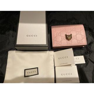 Gucci - 売り切り!!9月20日限定値下げ!新品未使用 GUCCI 財布 GG柄 猫