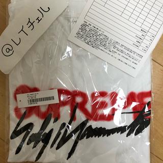 シュプリーム(Supreme)の白L Supreme Yoji Yamamoto Logo Tee(Tシャツ/カットソー(半袖/袖なし))