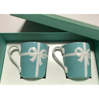 Tiffany & Co. - ティファニー マグカップ 2個セット ブルーリボン柄