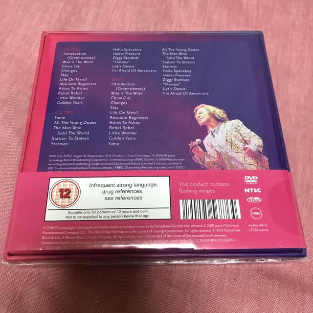 david bowie デヴィッド・ボウイ グラストンベリー 2000 エンタメ/ホビーのCD(ポップス/ロック(洋楽))の商品写真