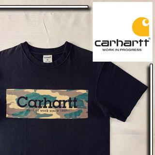 【美品】carhartt s/s tシャツ 迷彩 ボックスロゴ