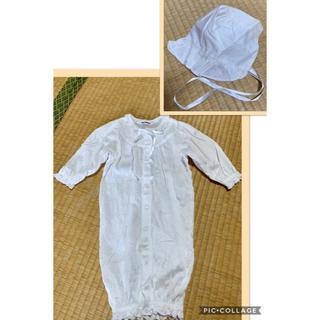 ミキハウス(mikihouse)の☆美品 ミキハウス 綿100% 2wayロンパース  ベビードレス(セレモニードレス/スーツ)