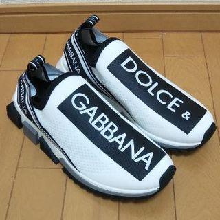 DOLCE&GABBANA - DOLCE & GABBANA (IT43)ソレント ロゴ スニーカー ホワイト