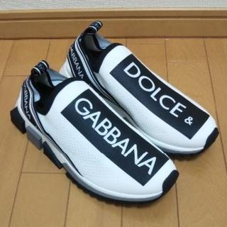 ドルチェアンドガッバーナ(DOLCE&GABBANA)のDOLCE & GABBANA (IT41)ソレント ロゴ スニーカー ホワイト(スニーカー)