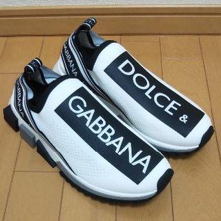 ドルチェアンドガッバーナ(DOLCE&GABBANA)のDOLCE & GABBANA  42.5ソレント ロゴ スニーカー ホワイト(スニーカー)
