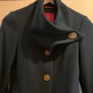 ヴィヴィアンウエストウッド(Vivienne Westwood)のVivienne Westwood red label 変形ハイネックコート(チェスターコート)