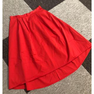 ナチュラルビューティーベーシック(NATURAL BEAUTY BASIC)のNatural Beauty Basic  レッド フレアスカート(ひざ丈スカート)
