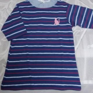 イッカ(ikka)の美品☆IKKA 重ね着風 ボーダー柄 5分袖Tシャツ 120(Tシャツ/カットソー)
