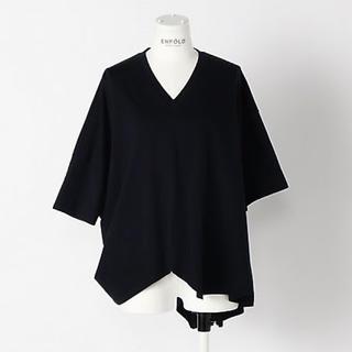 エンフォルド(ENFOLD)のライトディオラマ天竺アシンメTシャツ(Tシャツ(半袖/袖なし))