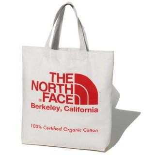 ザノースフェイス(THE NORTH FACE)の20年モデル 新品 未使用 ノースフェイス オーガニックコットン トート  赤(トートバッグ)