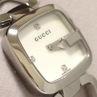 グッチ(Gucci)の3.新品同様 グッチ GUCCI 時計 3P ダイヤモンド 125.5(腕時計)