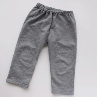 MUJI (無印良品) - 無印良品 パンツ① 毎日のこども服オーガニックコットン混ストレートパンツ 90