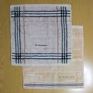 BURBERRY - 新品 BURBERRY② ウォッシュタオル 2枚セット タオルハンカチ ヨガ