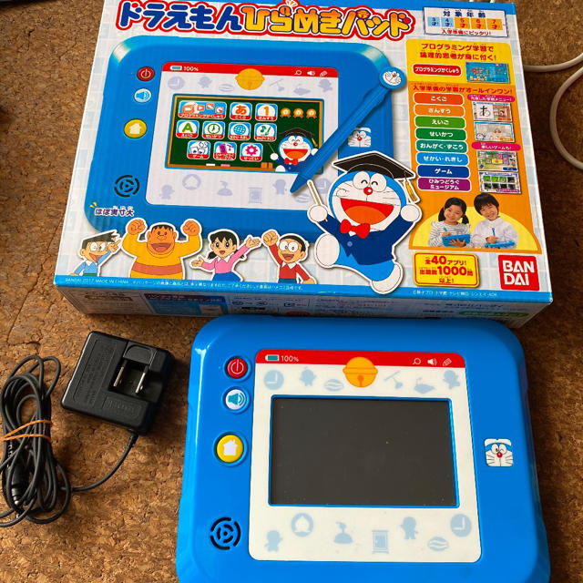 BANDAI(バンダイ)のドラえもん ひらめきパッド アダプターセット キッズ/ベビー/マタニティのおもちゃ(知育玩具)の商品写真