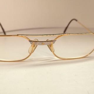 カルティエ(Cartier)の質流れ品TW!Cartier カルティエ サントス メガネ 眼鏡 サングラス美品(サングラス/メガネ)