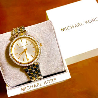 マイケルコース(Michael Kors)の【大特価!!】マイケルコース シンプル腕時計 ゴールド×シルバーストーン 秋🎀(腕時計)