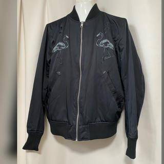 ディーゼル(DIESEL)のDIESEL ディーゼル フラミンゴ 星刺繍 MA-1ブルゾン S ブラック(ブルゾン)