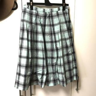 マーガレットハウエル(MARGARET HOWELL)のマーガレットハウエル 綿麻チェックスカート (ひざ丈スカート)