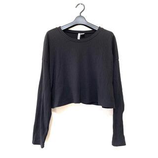 H&M カットソー 長袖薄手リブ編み
