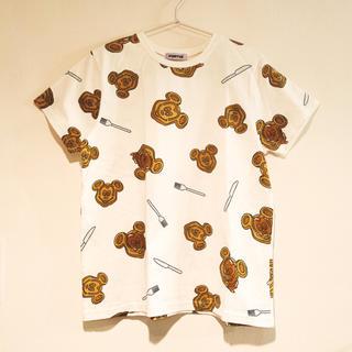 プニュズ(PUNYUS)のPUNYUS ♡ ミッキーワッフル Tシャツ L(Tシャツ(半袖/袖なし))