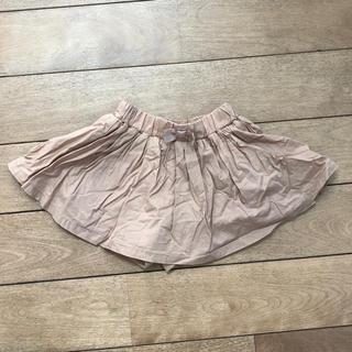 ニシマツヤ(西松屋)の美品 キュロット スカート パンツ ベージュ ブラウン 女の子 70cm(スカート)