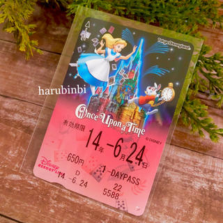 ディズニー(Disney)のアリス フリーきっぷ ワンスアポンアタイム フリー切符 一日乗車券(その他)