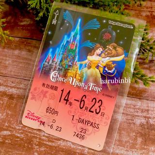 ディズニー(Disney)の美女と野獣 フリーきっぷ ワンスアポンアタイム フリー切符 一日乗車券(その他)