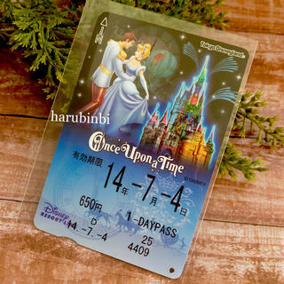 ディズニー(Disney)のシンデレラ フリーきっぷ ワンスアポンアタイム フリー切符 一日乗車券(その他)