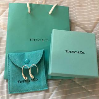 ティファニー(Tiffany & Co.)のTiffany Tiffany ティファニー ティアドロップシルバーフープピアス(ピアス)