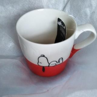 アフタヌーンティー(AfternoonTea)の麦茶様専用 アフタヌーンティースヌーピーマグカップ赤(グラス/カップ)