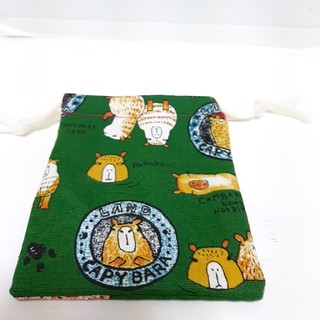 ミニ巾着袋 カピバラ柄(外出用品)