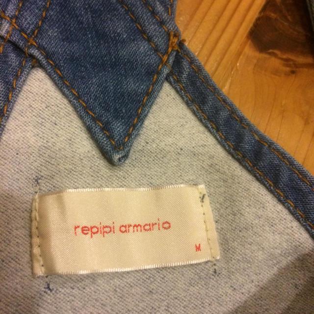 repipi armario(レピピアルマリオ)のrepipi  armario  レピピ  デニム オーバーオールsizeM  レディースのパンツ(サロペット/オーバーオール)の商品写真
