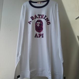 アベイシングエイプ(A BATHING APE)のBAPE ロンT 紫 XL(Tシャツ/カットソー(七分/長袖))