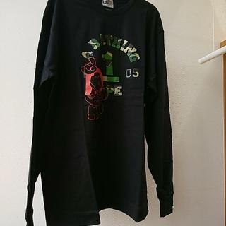 アベイシングエイプ(A BATHING APE)のBAPE ロンT  黒 XL(Tシャツ/カットソー(七分/長袖))