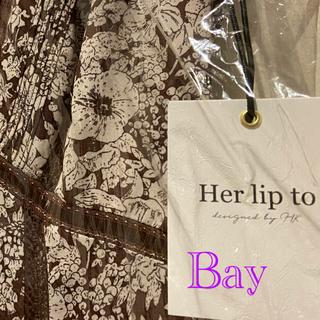 René - 未使用  HerLipTo Lace Trimmed Floral Dress