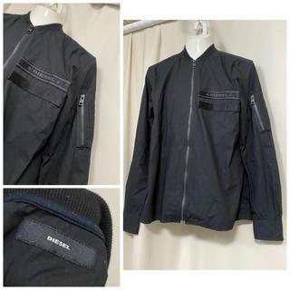 ディーゼル(DIESEL)のDIESEL ディーゼル MA-1 ブルゾンシャツ S ブラック(ブルゾン)